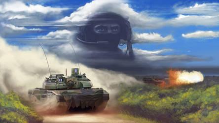 Leclerc Tank Portrait by Tetchist