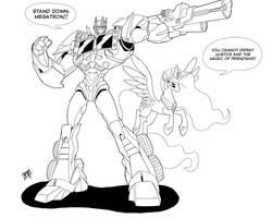 Optimus Prime and Princess Celestia by Mono-Phos