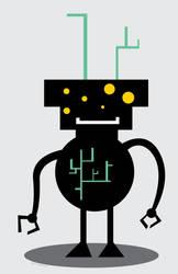Alien Robot Planter by ynthamy
