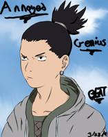 Shikamaru- Annoyed Genius by xBeatx