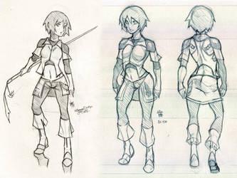 Miyu Concept Sketches by charlestanart