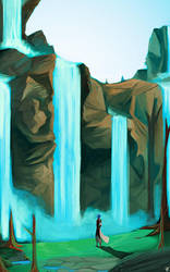 Empyrean Falls by charlestanart