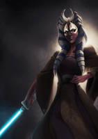 Master Jedi Shaak Ti by charlestanart