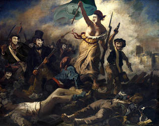 Liberty Trampling the People by charlestanart