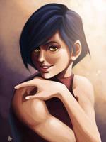 Portrait - Miyu by charlestanart