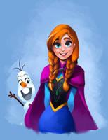 Anna and Olaf by charlestanart