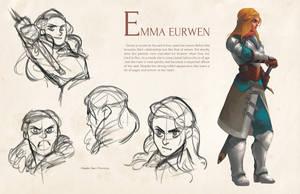 Character Sheet - Emma Eurwen by charlestanart