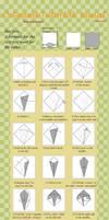 2th... Origami Tutorial: Kunai by mahou-no-omamori
