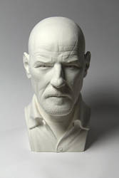 Heisenberg bust - white cast by CG-imagery