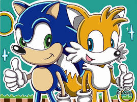 Sonic and Tails by 29steph5