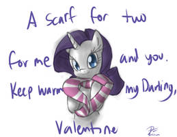 Rarity Valentine by leadhooves
