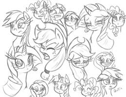 Ponefaces by leadhooves