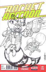 Rocket Raccoon and Chp by Pencilero