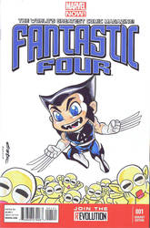Super Deformed Fantastic Four Wolverine by Pencilero