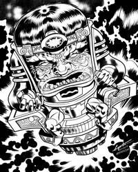 M.O.D.O.K. for Kirby Celebration Book @ Penciljack by Pencilero