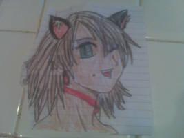 cat girl winking by nightangel5431