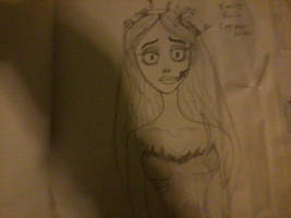 Emily from corpse bride drawing by nightangel5431