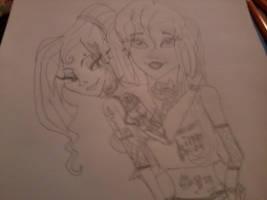 Ariel and Meg emo love by nightangel5431