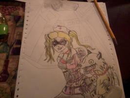 Harley Quinn and her hyena sidekick! by nightangel5431