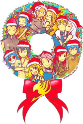 Fairy Tail Christmas 2013 by astrayeah