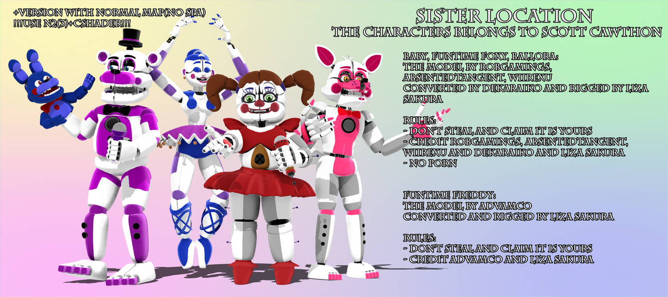 FNaF SL Sister Location Models V12 Download By
