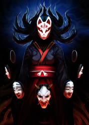 Kitsune On'na by Shalinka