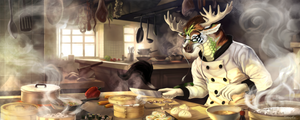 Tang Jun's kitchen by Shalinka