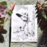 Inktober 2017 - 7# Shy by Shalinka
