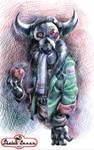 Have a monster in my sketchbook by sktlanza