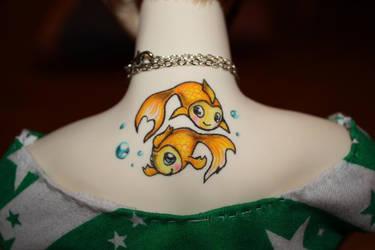 BJD Tattoo - Pisces by Diamond-Skull