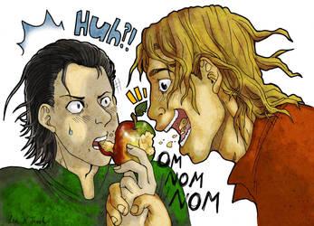 Apple Sharing by Diamond-Skull