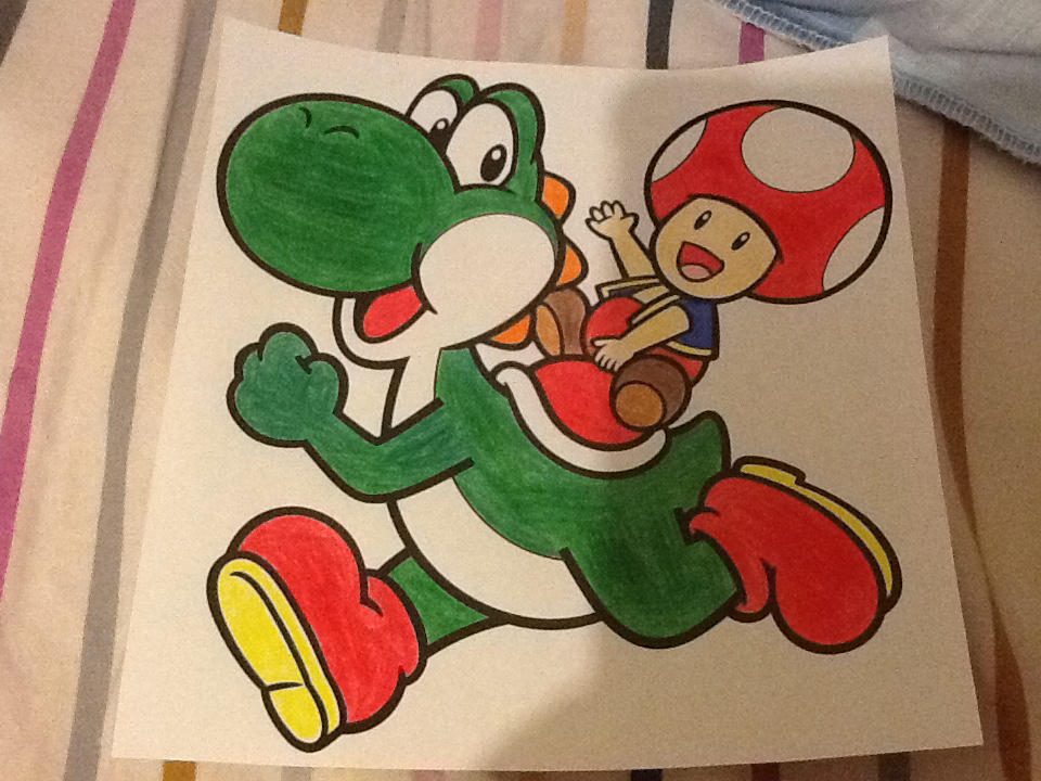 Toad And Yoshi. (My Style) by Philip1234567891