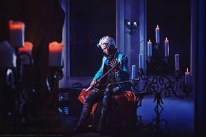 Dark castle. Devil may cry: Vergil cosplay by TaisiaFlyagina