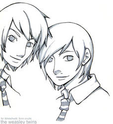 The Weasley Twins - Request by Cruzle