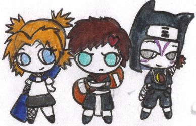 Naruto- shibby Gaara and squad by ScarlettStar