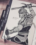Inktober. Yue Jin. by Gintijd