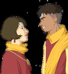 Jinora and Kai older by BlueDecember89