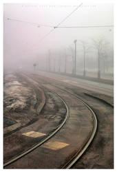 Rails into the mist by Pajunen