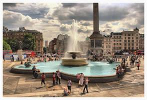 Trafalgar Square, London by Pajunen