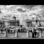 People at Trafalgar Square by Pajunen
