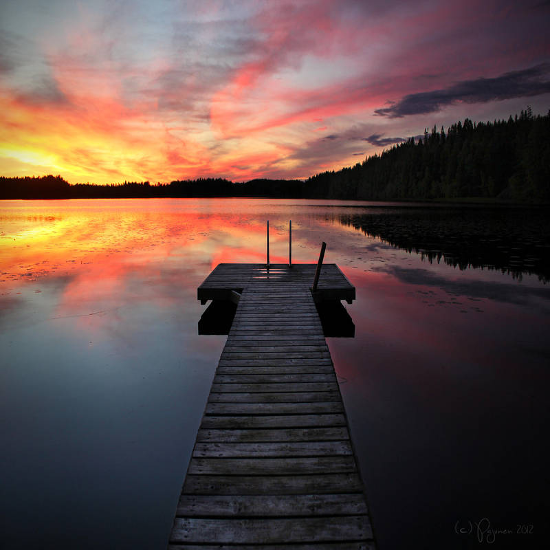 Summer Night Swimming by Pajunen