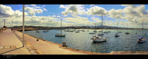 A summer day in Dun Laoghaire by Pajunen