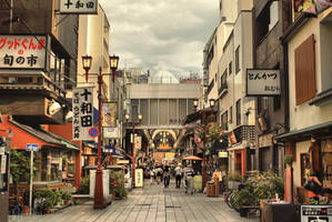 Asakusa streets by Pajunen