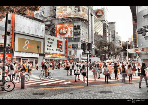 Shibuya Street Life by Pajunen