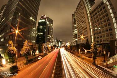 Night Traffic by Pajunen