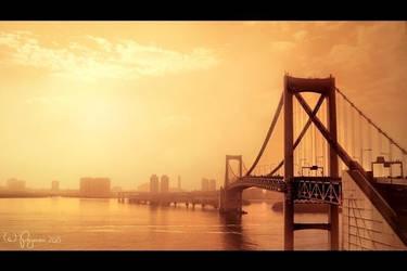 Rainbow Bridge Tokyo by Pajunen