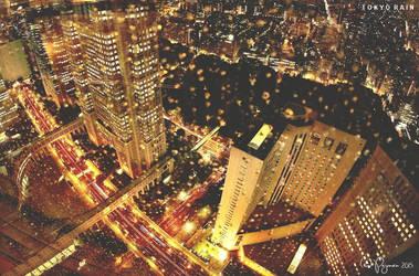 Tokyo Rain by Pajunen