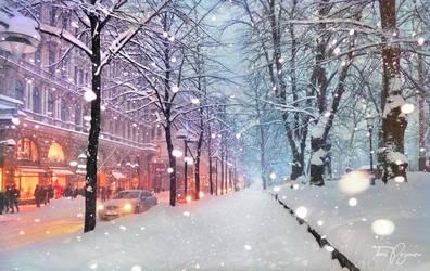 Helsinki Snowfall by Pajunen