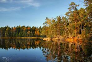 October Lake by Pajunen