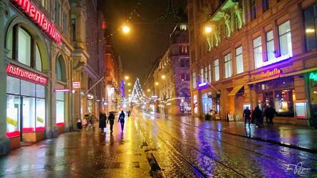 Rainy Helsinki by Pajunen